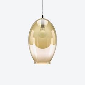 Vase Pendant Light in Amber Tint