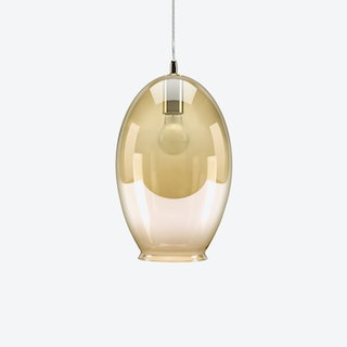 Vase Pendant Light in Amber Tint