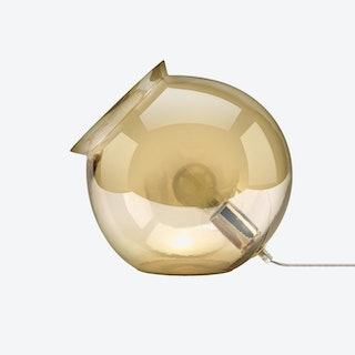 Cauldron Table Lamp in Amber Tint