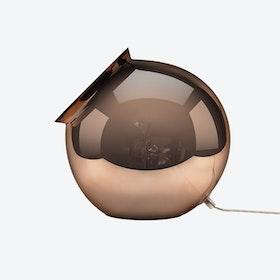 Cauldron Table Lamp in Mirror Copper