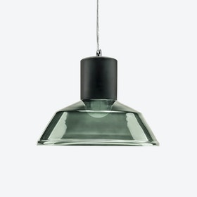 Factory Pendant Light in Grey Blue Tint