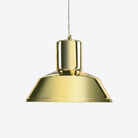 Factory Pendant Light in Mirror Gold