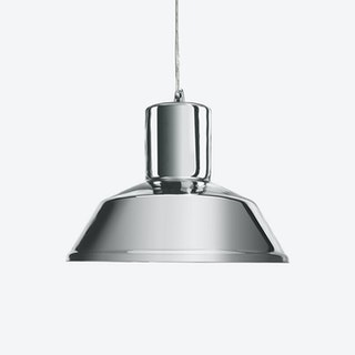Factory Pendant Light in Mirror Silver