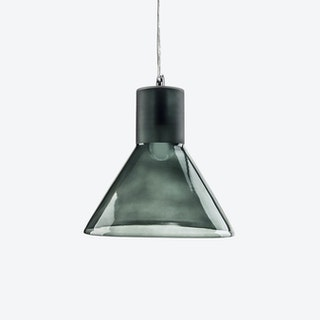 Funnel Pendant Light in Grey Blue Tint