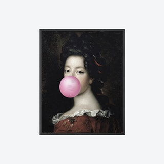 Bubblegum Portrait - 1 Canvas Print