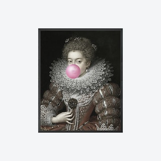 Bubblegum Portrait - 3 Canvas Print