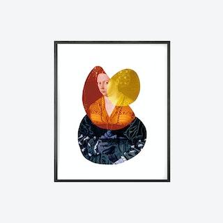 Shape and Colour Lady 2 Canvas Print