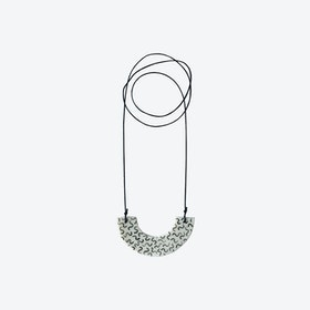 Staple Arc Necklace in Noodle w/ Black Cord