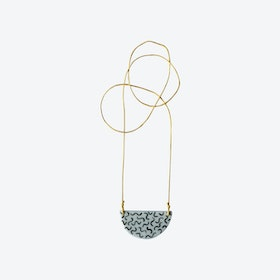 Staple Semi-Circle Necklace in Noodle w/ Mustard Cord