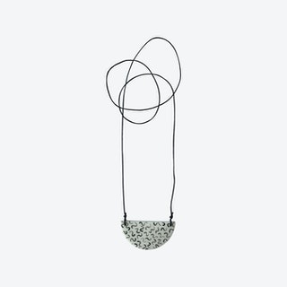 Staple Semi-Circle Necklace in Noodle w/ Black Cord