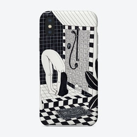 Yoga In The Shower Phone Case