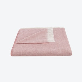Light Wool Throw in Pink
