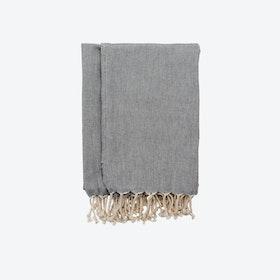 Turkish Towel Plain in Charcoal