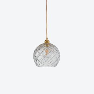 Rowan Pendant Light in Gold w/ Large Check