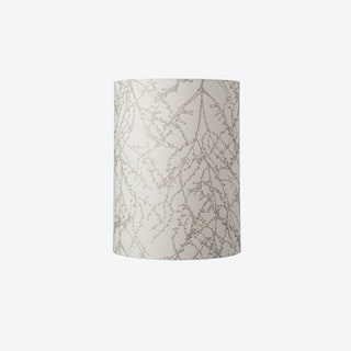 Slim Lampshade in White/Silver Branches