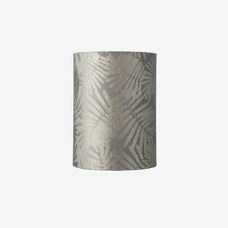 Slim Lampshade in Silver Wild Fern Leaves