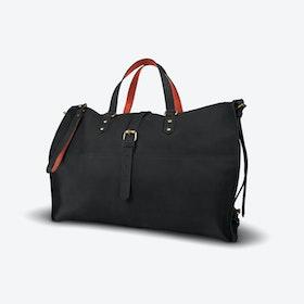 Tubani Weekender Bag in Black and Copper