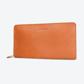 Sapule Kalis Wallet in Tan and Petrol