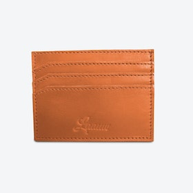 Sapule k'atsis Cardholder in Tan and Petrol