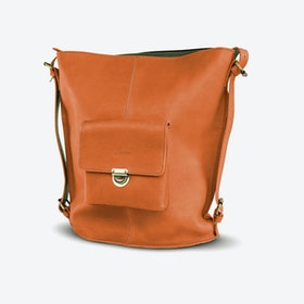 Rustaveli Backpack in Tan and Petrol