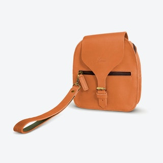 Vera Shoulder Bag in Tan and Petrol
