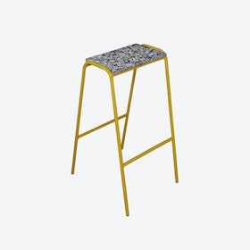 Pill Stool in Mustard Yellow w/ Recycled Plastic Seat