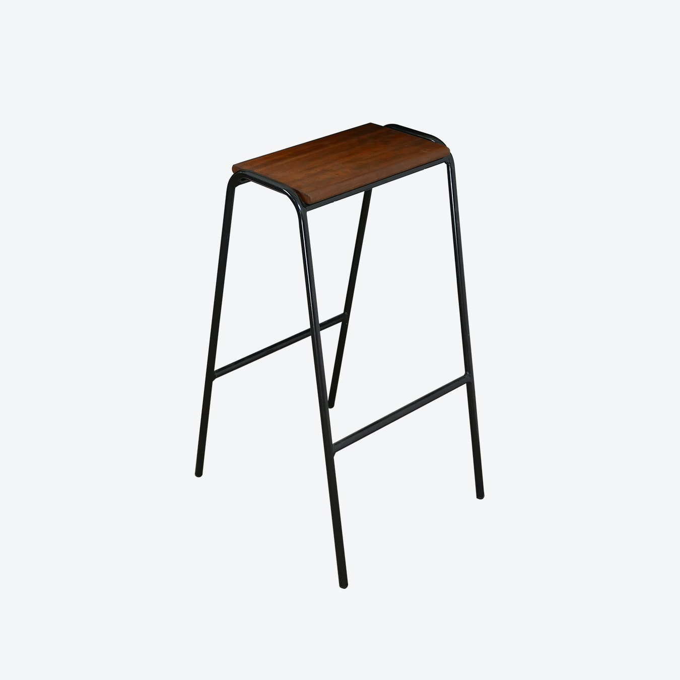 Awesome Pill Stool In Black W Iroko Wood Seat Machost Co Dining Chair Design Ideas Machostcouk