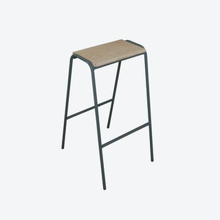 Pill Stool in Battleship Grey w/ Ash Seat