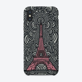 Pink Eiffel Tower Drawing Meditation Phone Case