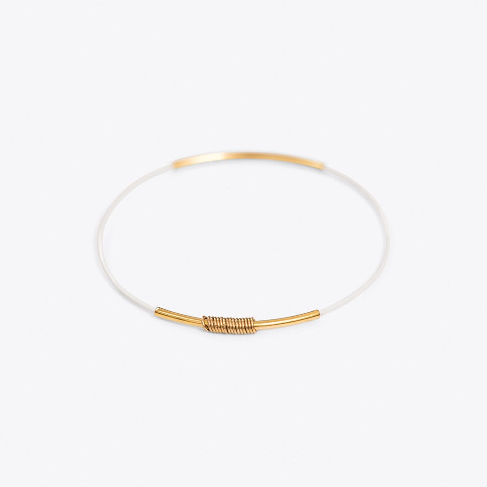 Simple Bangle in White