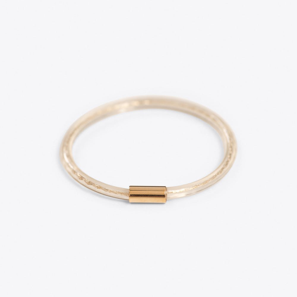 Gold Tube Bangle
