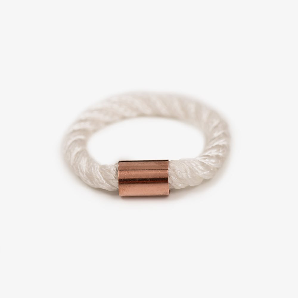 Rope Bangle in White
