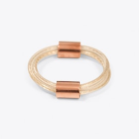 Chunky Gold Tube Bangle