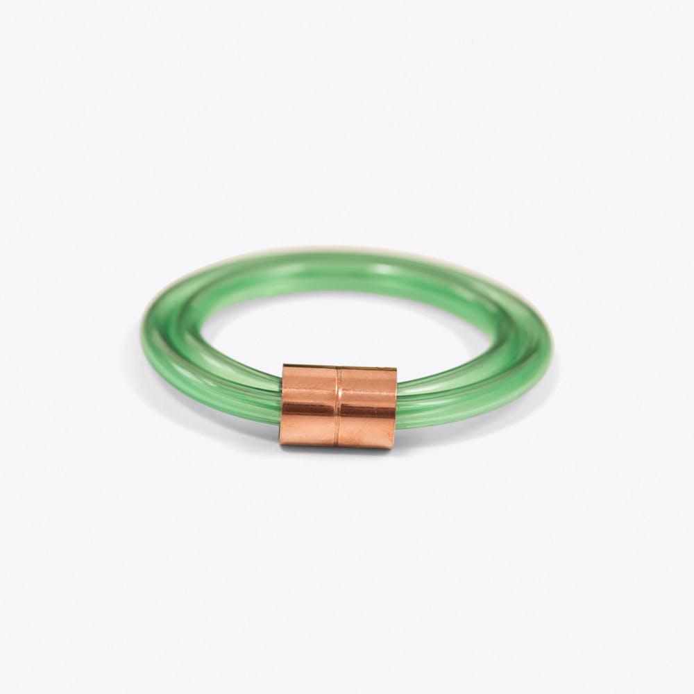 Chunky Green Tube Bangle