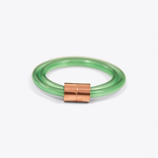 Chunky Green Tube Bangle