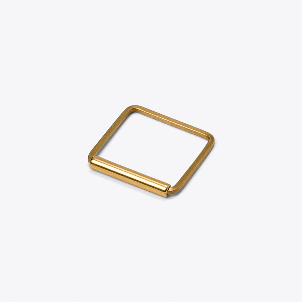 Square Brass Ring