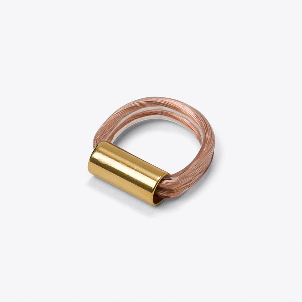 Copper Gold Ring - Dual