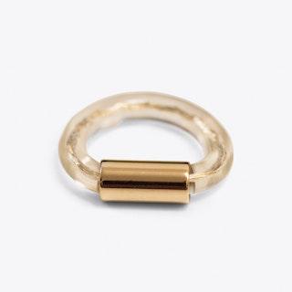Gold Tube Ring