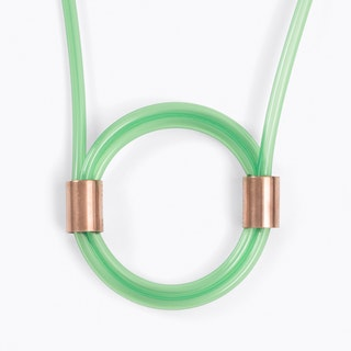 Tube Necklace in Green
