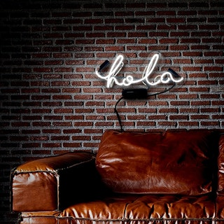 Hola Neon Sign