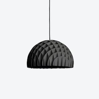 Arc Pendant Light in Black Plywood