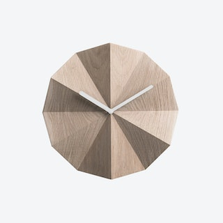 Delta Clock in Oak