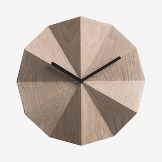 Delta Clock - Black - Oak