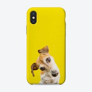Curious Dog Yellow Phone Case