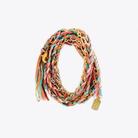 Braided Wrap Bracelet in Satin Gold Southwest