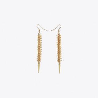 Fishbone Earrings in Gold
