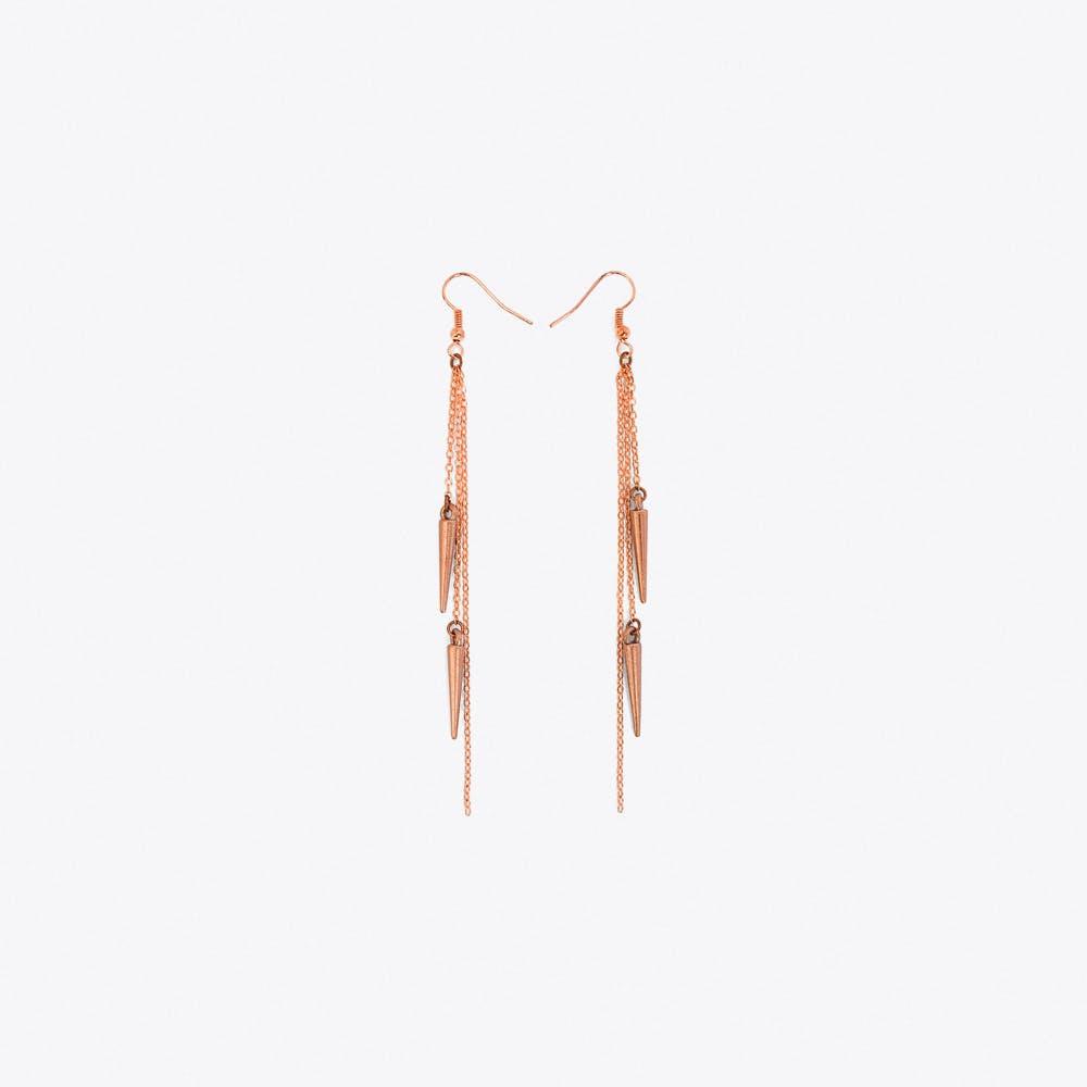 Spike Earrings in Rose Gold