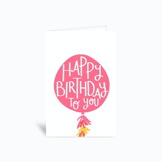 Happy Birthday Balloon Greetings Card
