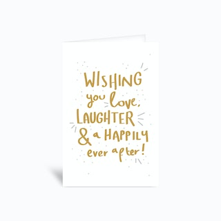 Wishing You A Happily Ever After Greetings Card