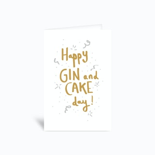 Happy Gin And Cake Day Greetings Card
